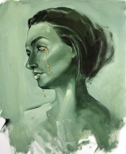 1.2 Advanced PaintingAnel TulegenovaAlmaty, Kazakhstan  |  DOS EducationGolden Tears (diptych) Oil on canvas and acqua bronze