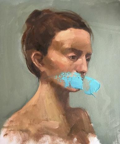 1.1 Advanced PaintingAnel TulegenovaAlmaty, Kazakhstan |  DOS EducationLove is Blind (triptych)Oil on canvas 2 paintings, each 41х50 cm