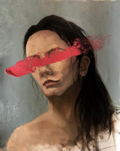 1.3 Advanced PaintingAnel TulegenovaAlmaty, Kazakhstan |  DOS EducationLove is Blind (triptych)Oil on canvas 2 paintings, each 41х50 cm
