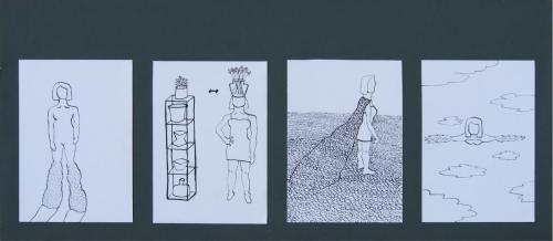 Intermediate DrawingFloor BosmanRotterdam, The Netherlands | FUA-AUFSelfportraitInk on paper31,5 x 15